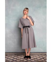 DOUBLE STANDARD CLOTHING(ダブルスタンダードクロージング)の【DSC】トルファンサイロハイゲージ天竺ワンピース(ワンピース)