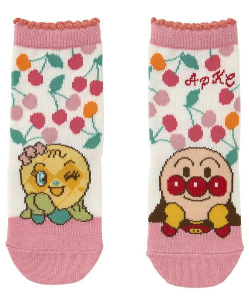 ANPANMAN KIDS COLLECTION(アンパンマンキッズコレクション)の「【アンパンマン】滑り止め加工 日本製さくらんぼ柄ソックス(ソックス/靴下)」 オフホワイト