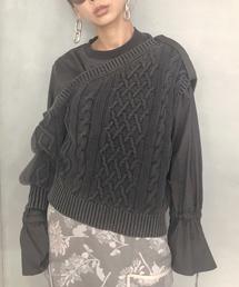 AMERI(アメリ)のLAYERED CABLE KNIT(ニット/セーター)