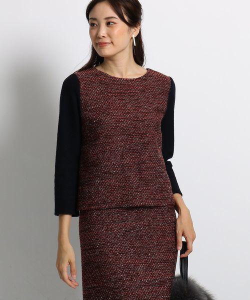 品質が [S]ラメ混ツイード切り替えプルオーバー(シャツ/ブラウス)|INDIVI(インディヴィ)のファッション通販, ロンドンティールーム:e02fbd36 --- skoda-tmn.ru