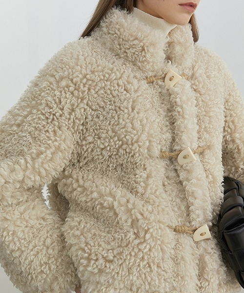 【Fano Studios】【2021AW】Poodle fur stand-up collar blouson FD20W240
