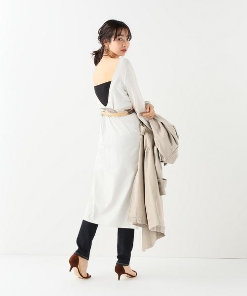 SLOBE IENA Fi.mスカーフ付きワンピース