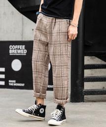 neos(ネオス)の【neos -sellect design-】セミワイド タータン チェック スラックス パンツ(パンツ)
