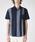 BLACK LABEL CRESTBRIDGE(ブラックレーベル・クレストブリッジ)の「パネルストライプハーフスリーブシャツ(シャツ/ブラウス)」 ネイビー