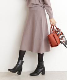 N.(N. Natural Beauty Basic)(エヌエヌナチュラルビューティーベーシック)のウォームハイゲージニットスカート(スカート)