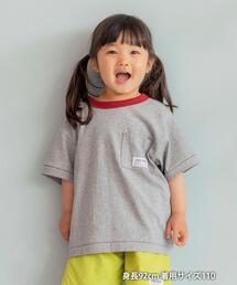 【coen キッズ/ジュニア】リンガーポケットTシャツ