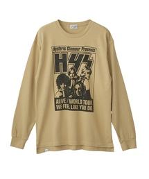 HYS ALIVE プリント リブ付Tシャツ