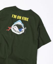 FREAK'S STORE(フリークスストア)の▽【WEB限定】MIDORI KOMATSU × FREAK'S STORE / ミドリ コマツ × フリークスストア SHARK BITE T-SHIRT プリント 半袖Tシャツ(Tシャツ/カットソー)