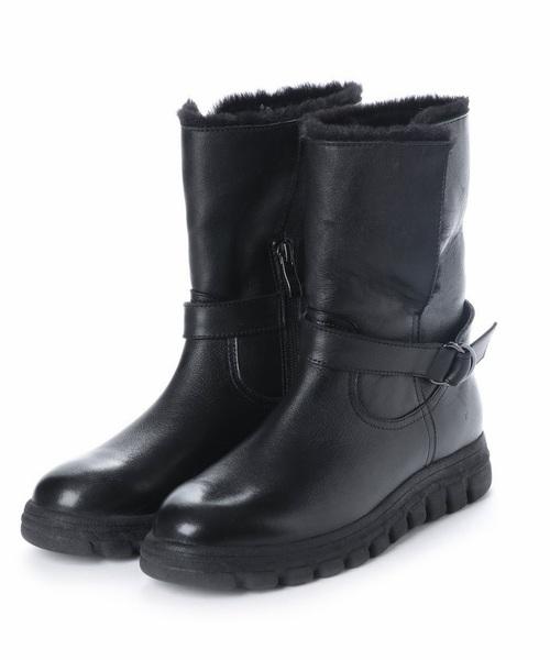 neue diffusion(ノイエディフュージョン)の「ボア付きブーツ/4351大きいサイズ(ブーツ)」|ブラック