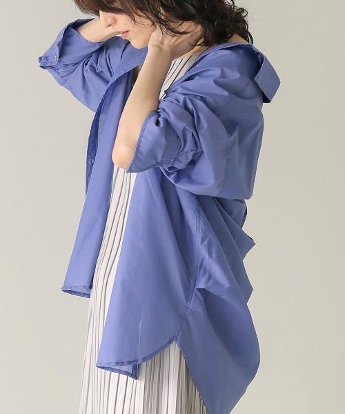 Bou Jeloud(ブージュルード)の「シアーBIGシャツ/シャツブラウス(シャツ/ブラウス)」|ブルー