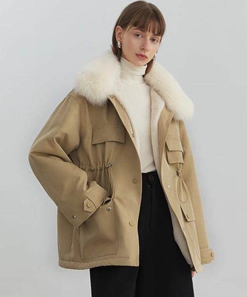 【Fano Studios】【2021AW】Fox fur military boa jacket FD20W244