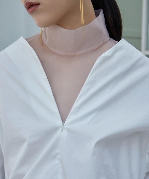 【chuclla】【2021/SS】Sheer attached collar chw1460