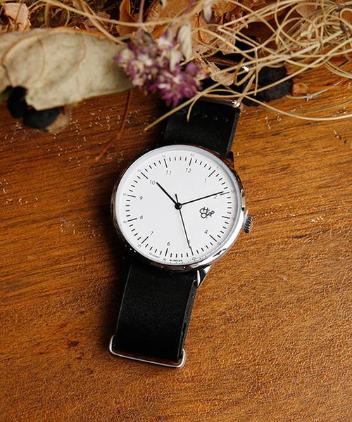 CHPO(シーエイチピーオー)の「CHEAPO チーポ/HAROLD ハロルド 14224AA 14224BB 14224DD クオーツ レザーバンド CHPO シーエイチピーオー(腕時計)」|シルバー×ブラック