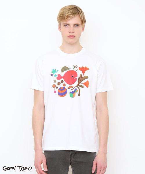 コラボレーションTシャツ/五味太郎(きんぎょがにげたきんぎょさん)