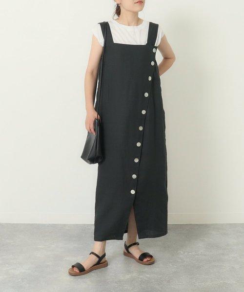 リネン釦デザインドレス