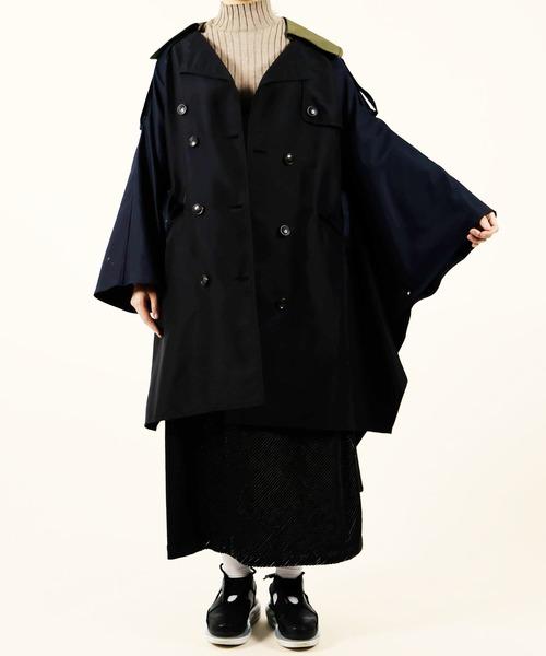 即納!最大半額! 配色 Titilate ミリタリー風ポンチョ Luxe トレンチコート(トレンチコート)|Titilate Doll/ Valet(ティティレートヴァレット)のファッション通販, 愛別町:fc82681d --- 5613dcaibao.eu.org