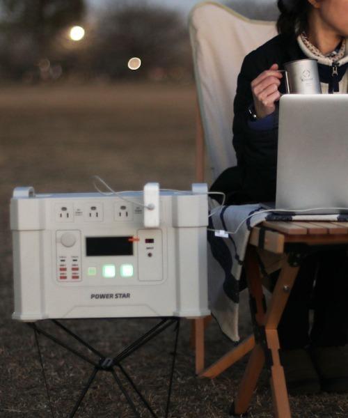 POWER STAR(パワースター)の「2000W 大容量ポータブル電源(生活家電)」|ベージュ