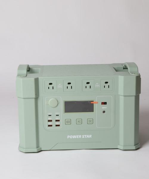 POWER STAR(パワースター)の「2000W 大容量ポータブル電源(生活家電)」|ライトグリーン
