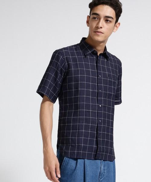 ハードマンリネン半袖シャツ
