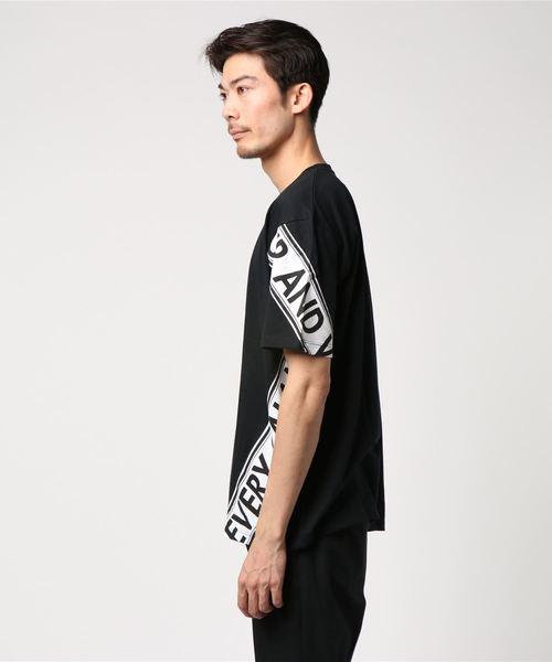【NOBLE PRODUCT】ツイスト切替デザインビックシルエットTシャツ