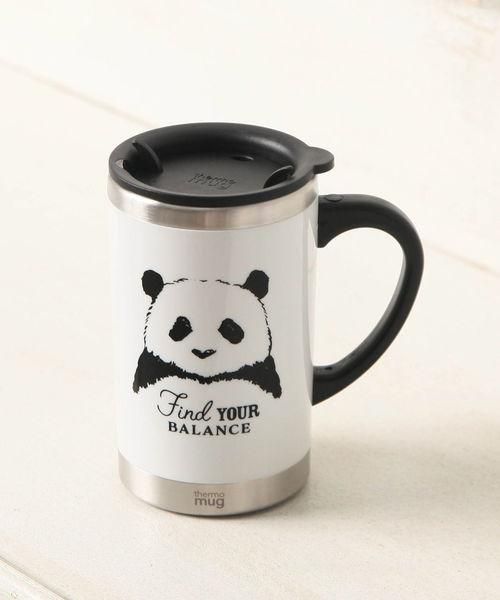 Afternoon Tea(アフタヌーンティー)の「パンダ柄スリムマグカップ(グラス/マグカップ/タンブラー)」 ホワイト