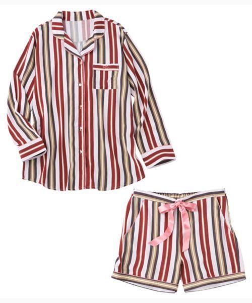 PEACH JOHN(ピーチジョン)の「【雑誌掲載アイテム】イージーシャツパジャマ(ルームウェア/パジャマ)」|ストライプ