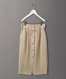 <6(ROKU)>LINEN BUTTON SKIRT/スカート