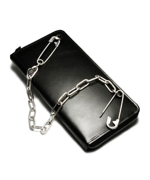 安全ピン ウォレットチェーン/シルバー/ブラック/財布チェーン/人気/おしゃれ/おすすめ/コーデ/ブランド/セール