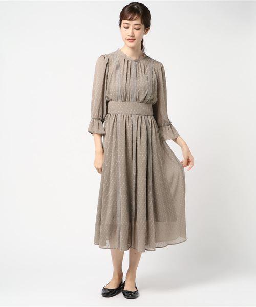 6b4bb31973037 KATHARINE ROSS(キャサリンロス)の KATHARINE ROSS ドットジャガードドレス(ドレス