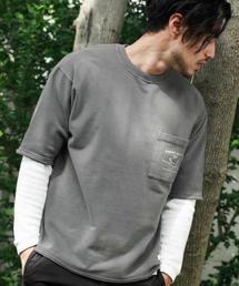 BAYFLOW(ベイフロー)のインレイスノーウォッシュハーフスリーブ(Tシャツ/カットソー)