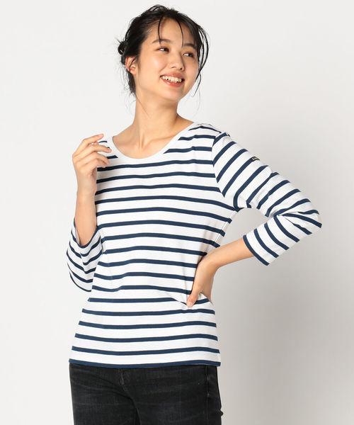 Le Minor(ルミノア)の「【Le minor×fredy】別注Uネックカットソー(Tシャツ/カットソー)」|ホワイト系その他
