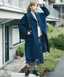 haco!(ハコ)のパッと着るだけでオシャレに見えるテントラインロングコート(その他アウター)