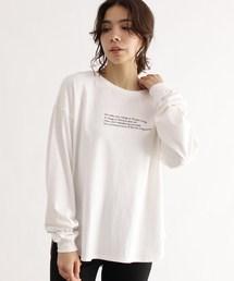 OZOC(オゾック)の[洗える]転写ロングスリーブプルオーバー(Tシャツ/カットソー)