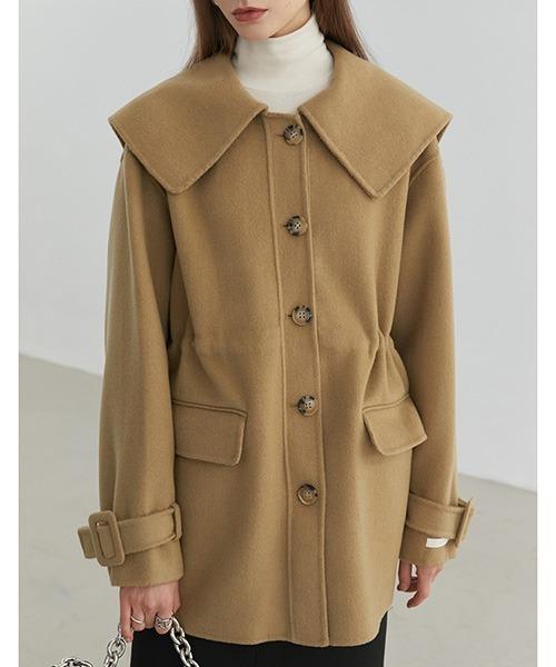 【Fano Studios】【2021AW】Big lapel river wool coat FD20W246