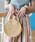 Ray BEAMS(レイビームス)の「Ray BEAMS / サークル カゴ バッグ(かごバッグ)」|ナチュラル