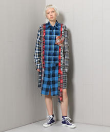 <NEEDLES>FLANNEL CHECK DRESS/ワンピース
