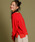 Munich(ミューニック)の「【2way】リネン混ジャージニット×コットンシフォン異素材切替えトップス/カーディガン(カーディガン)」|詳細画像