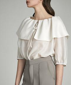 【UNSPOKEN】Ruffled collar blouse UX21S030