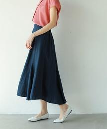 フレンチリネンフレアスカート