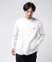 Danton(ダントン)のダントン DANTON / ロゴワッペンバンドカラーシャツ(シャツ/ブラウス)