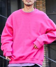 ギルダン USAオーバーサイズ ロングスリーブプルオーバークルースウェット(裏起毛)ピンク系その他