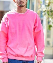 ギルダン USAオーバーサイズ ロングスリーブプルオーバークルースウェット(裏起毛)ピンク系その他3