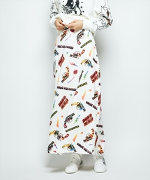 POP GUN総柄 ロングスカート
