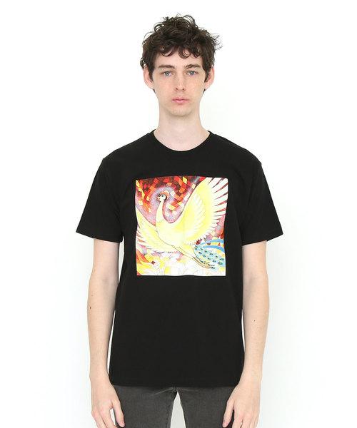 graniph(グラニフ)の「コラボレーションTシャツ/手塚治虫(火の鳥はばたき)(Tシャツ/カットソー)」|ブラック