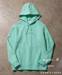 agnes b.(アニエスベー)の【agnes b. pour ADAM ET ROPE' 】[HOMME] HOODED PARKA WITH LOGO(パーカー)