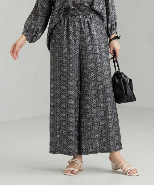 FM モロッカン プリント シャーリング パンツ