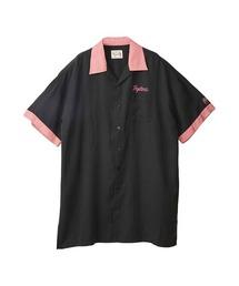 ENDLESS NIGHT刺繍 オーバーサイズボーリングシャツブラック