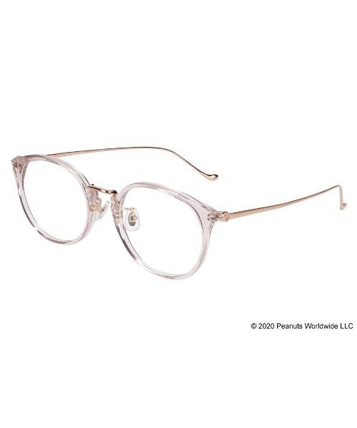 PEANUTS(ピーナッツ)の「ボストン型めがね|Zoff PEANUTS COLLECTION(メガネ)」|グレー
