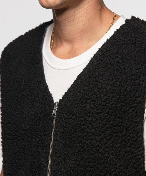 STUSSY(ステューシー)の「Wide Wale Reversible Vest(ブルゾン)」|詳細画像