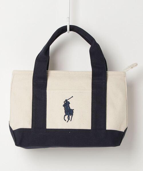 【POLO RALPH LAUREN】ポロラルフローレン キャンバス ミニトートバッグ